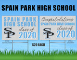 Spain Park High School Senior Shout Out Yard Sign