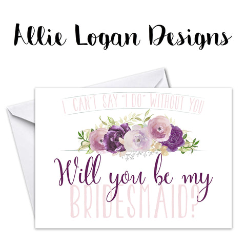 Bridesmaid Proposal Card - The Ashlynn Collection