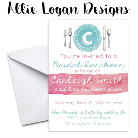 Bridal Luncheon or Rehearsal Dinner Invitation