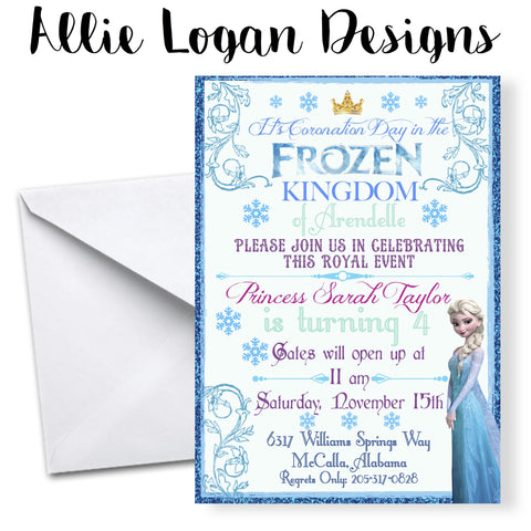 Frozen-Kingdom Birthday Invitation