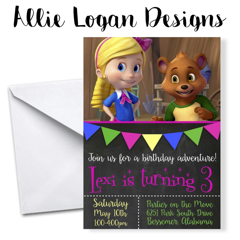 Goldie And Bear Birthday Invitations