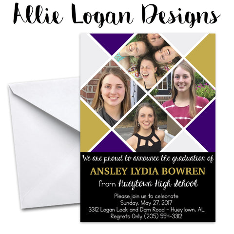 Graduation Announcement - Tiled Squares