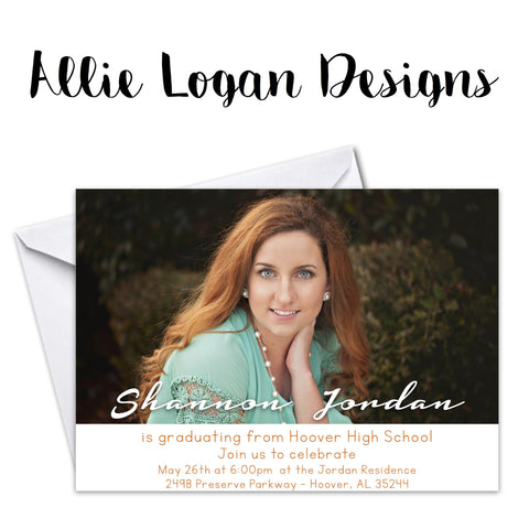 Signature Line Graduation Announcements