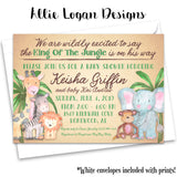 King of The Jungle Baby Shower Invitation