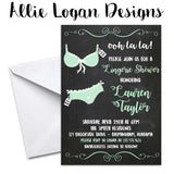 Lingerie Shower Invitation - Chalkboard Background
