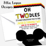Mickey Inspired Oh Toodles Invitation