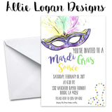 Mardi Gras Custom Event Invitation