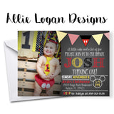 Mickey Mouse Photo Invitation with Banner - Personalized Wording!