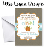 Little Pumpkin's First Birthday Invitation