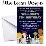 Star Wars - Inspired Birthday Invitation