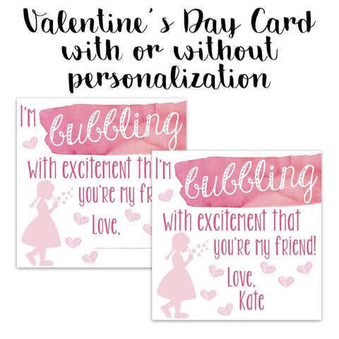 Bubbling With Excitement Valentine Card