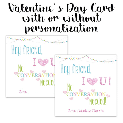 Conversation Hearts Valentine Card