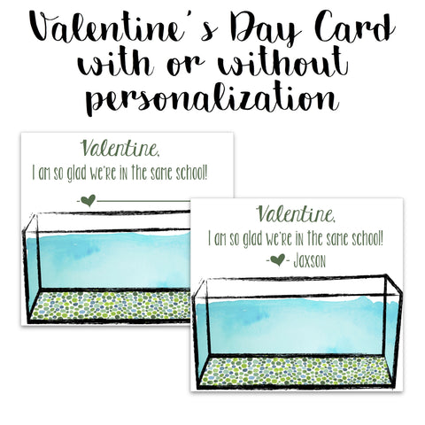 School of Fish Valentine Card