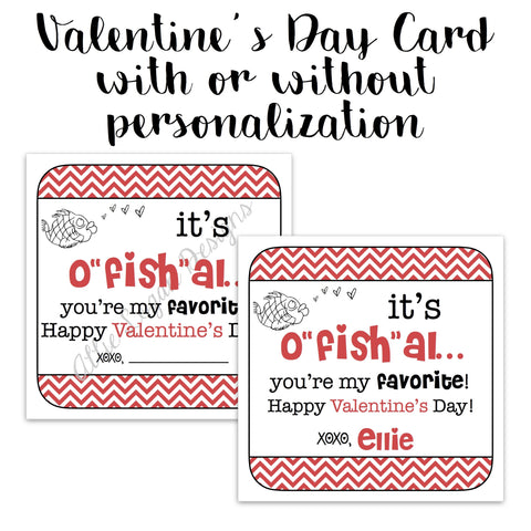 Fish-Themed Valentine Card