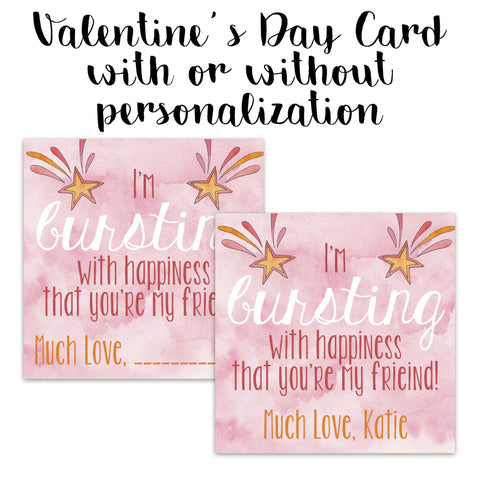 Bursting With Excitement Valentine Card