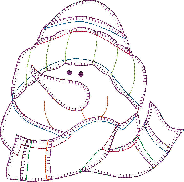 All Bundled Up Embroidery File