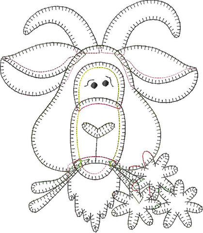 Goat Patternlet Embroidery File