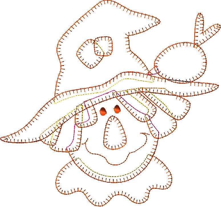 Happy Scarecrow Embroidery File