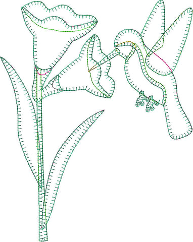 Hummingbird Patternlet Laser cut Applique/Towel Kit