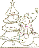 Joyful Snowman Embroidery File