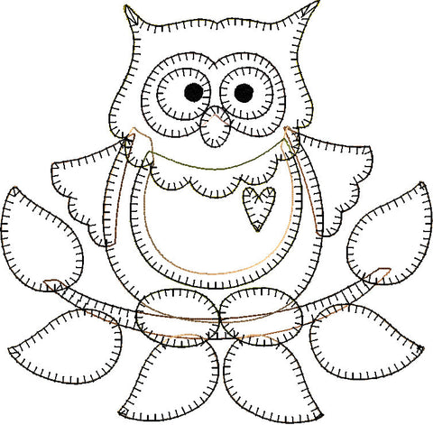 Little Hoot Owl Embroidery File