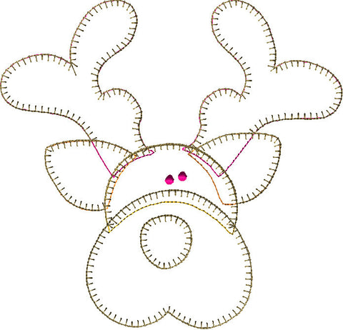Reindeer Patternlet Embroidery File