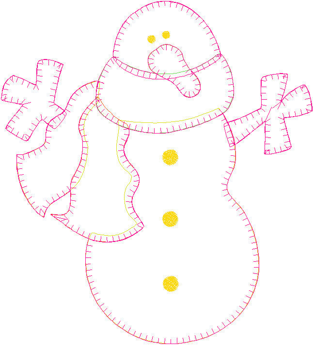 Snowman Patternlet Embroidery File