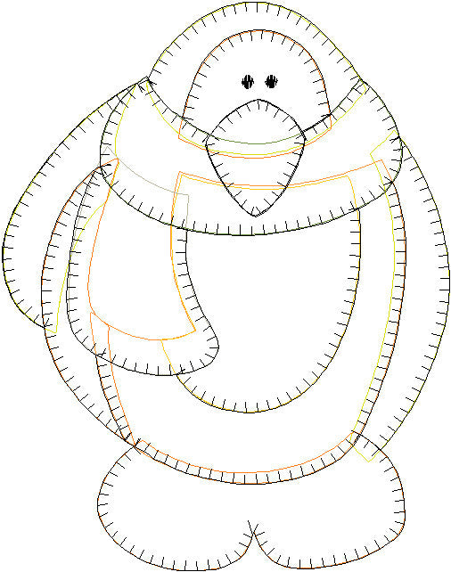 Penguin Patternlet Embroidery File