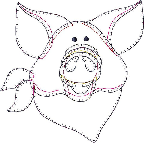Pig Patternlet Embroidery File