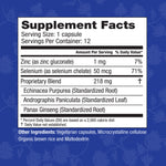 HybridCR Rapid Immune Defense-Pharmacist Formulated All Natural Dose Pack Supplement Facts