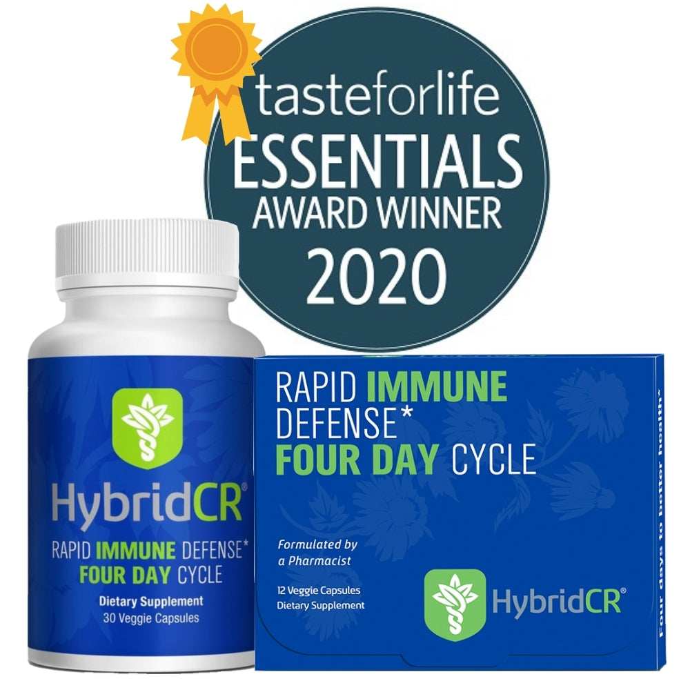 HybridCR Rapid Immune Defense Dose Pack - Pharmacist Formulated Natural Herbal Immune Support - Gluten-Free, Non-GMO with Andrographis & Echinacea
