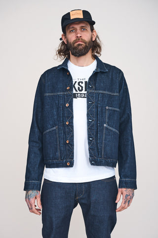 WORK JACKET 14.75oz Rinsed Indigo