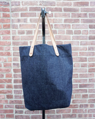 Loren Mfg. Farmer's Tote, Indigo Denim