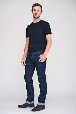 SLIM TIM 12oz Raw Indigo