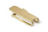 Square Money Clip, Brass