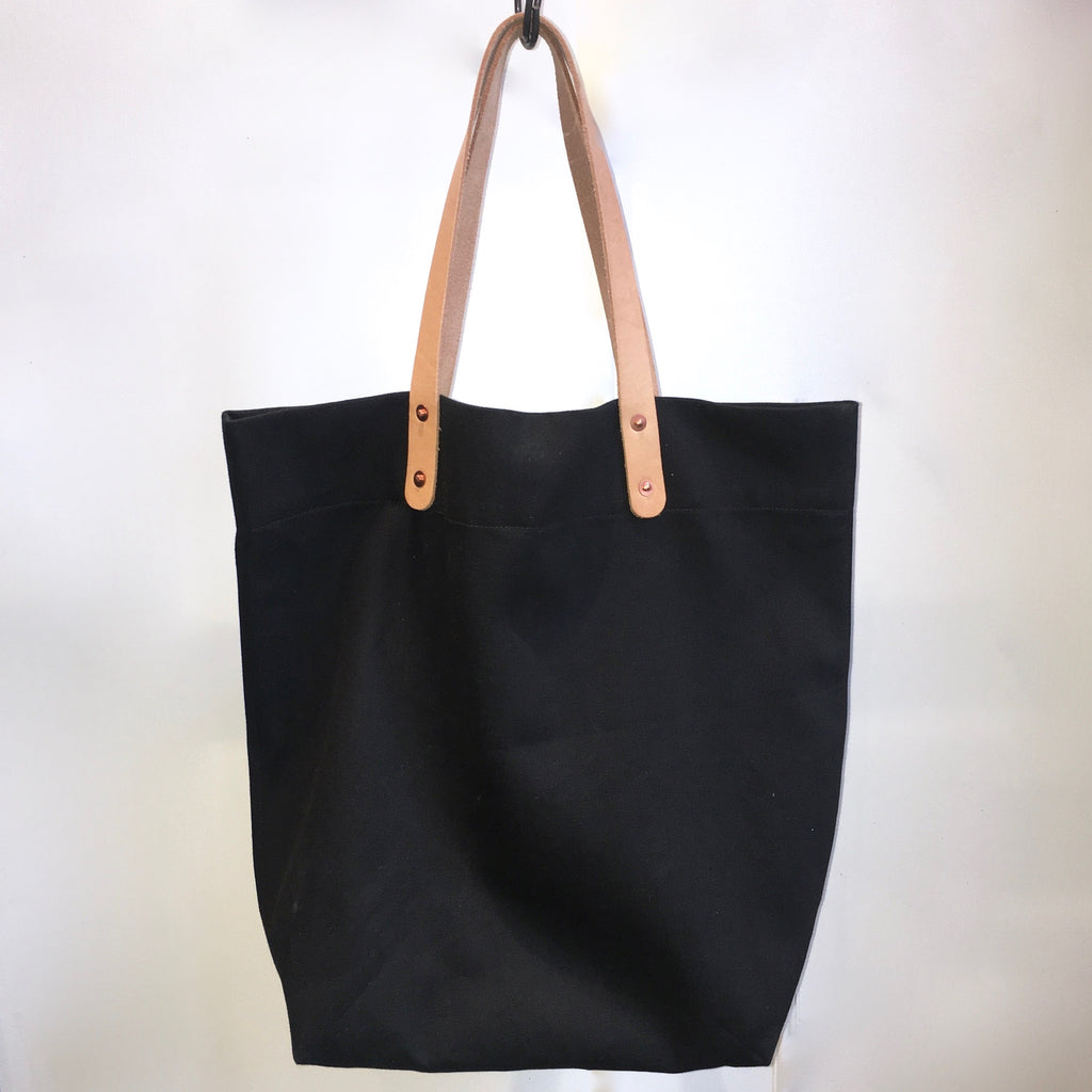 Loren Mfg. Farmer's Tote, Black Japanese Denim