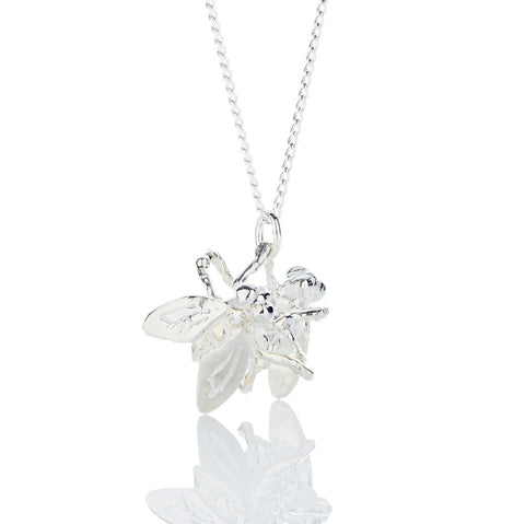 Double Fly Silver Pendant