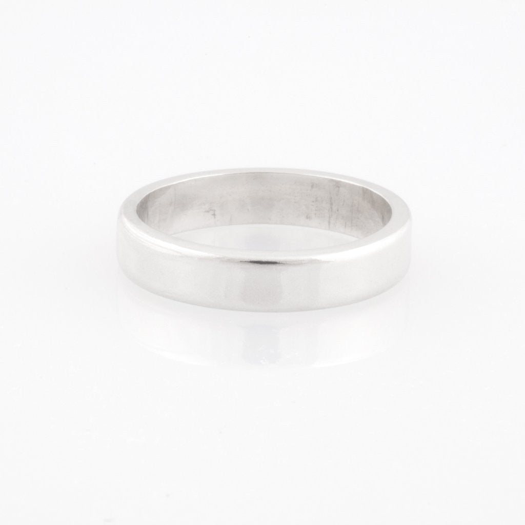 Plain Silver Band Ring