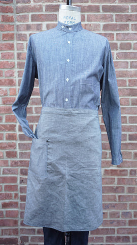 Loren Mfg. Gray Chambray Long Waist Apron