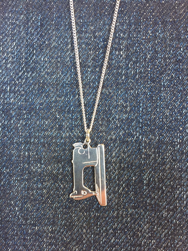 Sewing machine pendant necklace