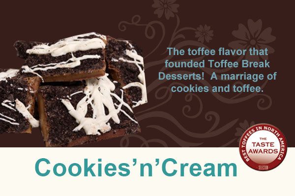 Cookies'n'Cream Toffee - Toffee Break Desserts