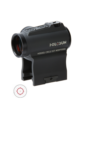 holosun SOLAR CIRCLE DOT SIGHT WITH SIDE MOUNTED BATTERY - Tactical-Canada