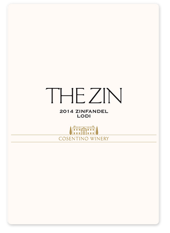 2014 Cosentino THE ZIN Zinfandel