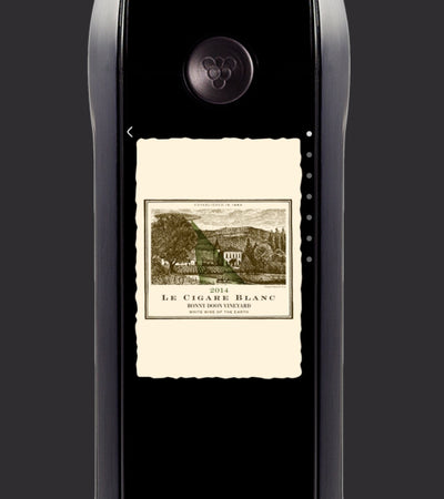 looping muted video of user interface on the Kuvée bottle screen