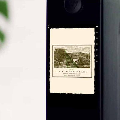looping muted video of the screens on the Kuvée bottle