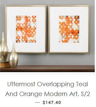 Modern Art in Teal and Orange