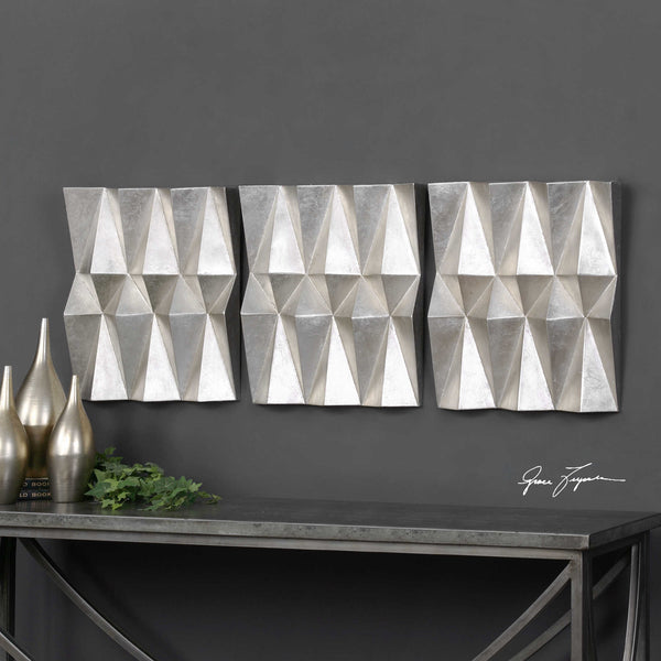 Uttermost Maxton Multi-Faceted Panels S/3 - ModelDeco