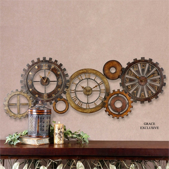 Uttermost Spare Parts Wall Clock - ModelDeco
