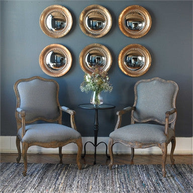 Uttermost Tropea Rounds Wood Mirror S/2 - ModelDeco