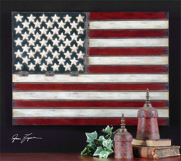 Uttermost American Flag Metal Wall Art - ModelDeco
